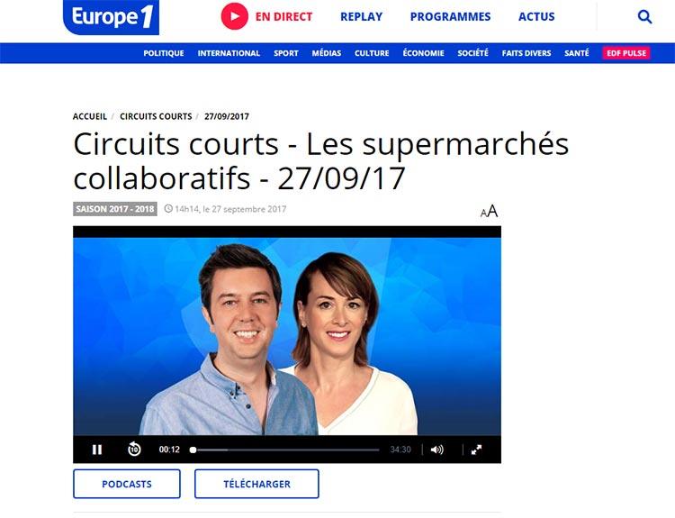 Circuits courts – Les supermarchés collaboratifs – 27/09/17