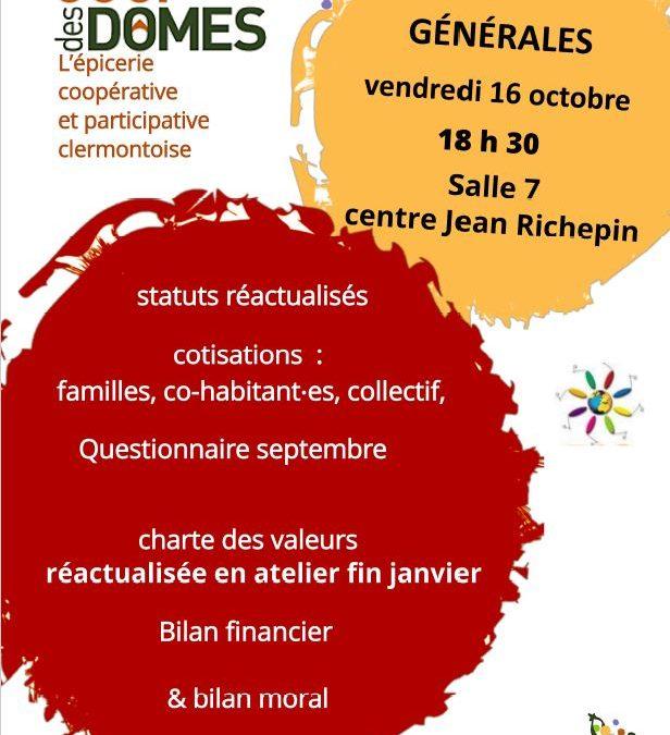 Assemblées Générales, le 16 octobre